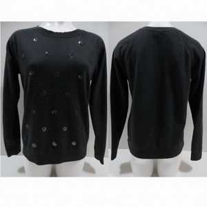 Old Navy sweatshirt Medium crew sequin polka dot